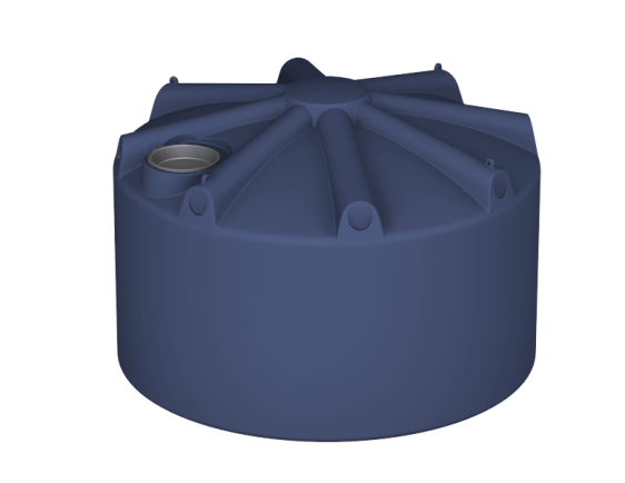 2250 litre squat round water tank