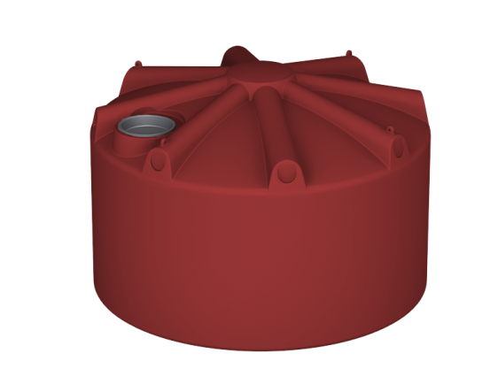 5000 litre round squat water tank