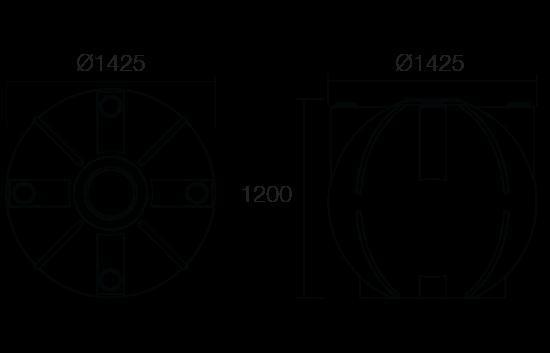 1500 litre pump out tank dimensions