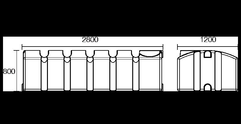 2000 litre under deck tank dimensions