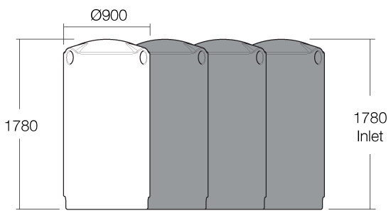 Camel 1000 litre water tank dimensions