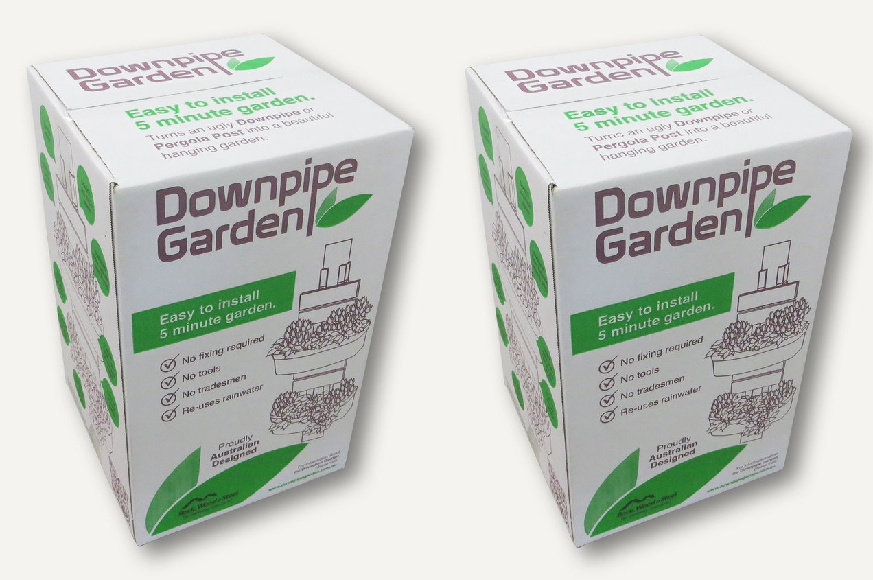 Two downpipe garden boxes