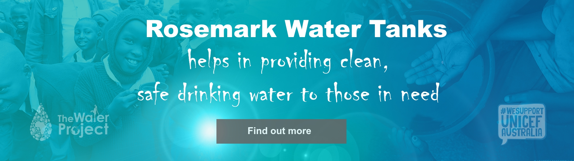 rosemark water tanks charity banner